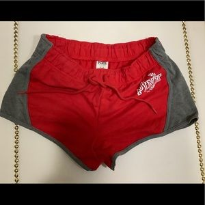 PINK red and grey campus shorts